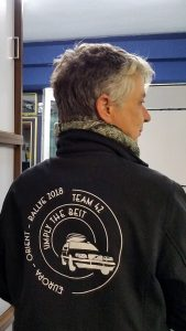 Teamlogo simplythebest42.de auf unseren Jacken
